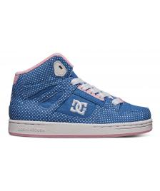 DC Shoes Kinder Schuhe DC Rebound SE UL blue white print