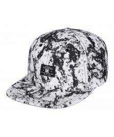 DC Shoes Snapback Cap DC Filth lily white storm print