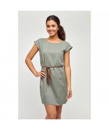 Mazine Frauen Kleid Mazine Arada Dress olive / stripes