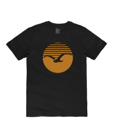 Cleptomanicx Männer T-Shirt Cleptomanicx Basic Tee Big Sunrise black golden yellow