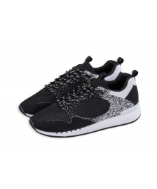 Djinns Schuhe Djinns Easy Run Gator Knit black white