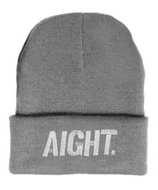 Aight Aight Mütze Bold Logo Embroid Beanie heather grey