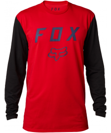 Fox Männer Longsleeve Fox Contended Tech Tee dark red