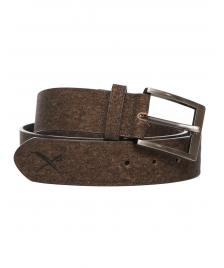 Iriedaily Gürtel Iriedaily Cork Flag Belt dark brown