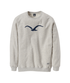 Cleptomanicx Männer Pullover Cleptomanicx Crewneck Möwe heather creme MJ blue
