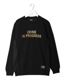 Space Monkeys Space Monkeys Pullover Crime In Progress Crew Neck Sweater black gold