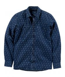 Cleptomanicx Cleptomanicx Hemd Men Port L/S Shirt blue denim