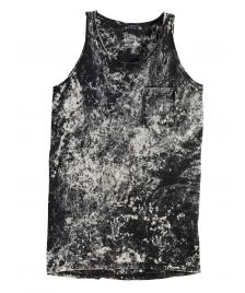 Cleptomanicx Cleptomanicx Men Tank Top Marble black