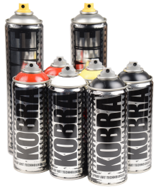 Kobra Kobra Sprühdosen Set 6 x 400ml, 1 x 600ml Big Black 72, 1 x 600ml Krome 71