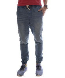 Globe Globe Hose Select Denim Jogger Pant damaged blue