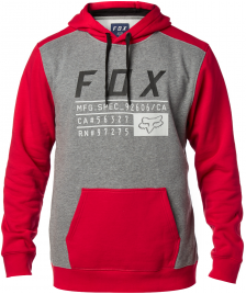 Fox Männer Pullover Fox District 3 Fleece dark red