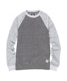 Element Herren Pullover Meridian Block Crew charcoal heather