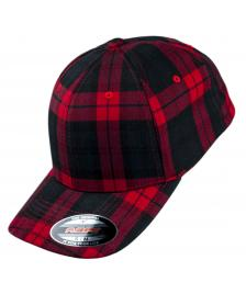 Flexfit Flexfit Cap Tartan Plaid black red