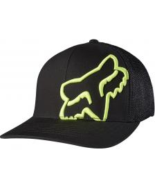 Fox FOX Cap Trucker Up Sleeve Flexfit Hat Black