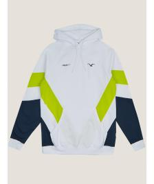 Cleptomanicx Männer Kapuzenpullover Cleptomanicx Hooded That is That 2 white / lime