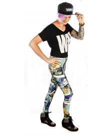Graffiti Beasts Graffiti Beasts Leggings Legging by Jaik multicoloured - Größe: M
