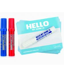 "Montana Montana ""Hello my name is…"" Sticker Pack + Marker Blue"