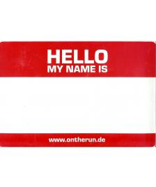 OTR Magnet OTR On The Run Hello My Name rot groß