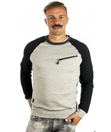 Humör Humör Pullover Taro Pocket Sweatshirt light grey melange
