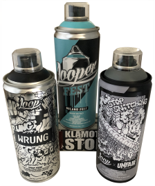 Loop Sprühdosen Set Loop Fest Colors limited Artists Edition Unfair Wrung 3x400ml