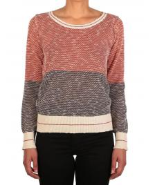 Iriedaily Frauen Pullover Iriedaily 2 Tone Biquet Knit earth red