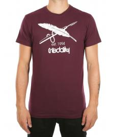 Iriedaily Männer T-Shirt Iriedaily Harpoon Flag Tee red wine
