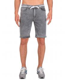 Iriedaily Männer Shorts Iriedaily Slim Shot2 Denim Short grey bleach washed