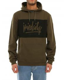 Iriedaily Männer Pullover Iriedaily Tagg Hooded black olive