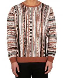 Iriedaily Männer Pullover Iriedaily Theodore Knit tabacco