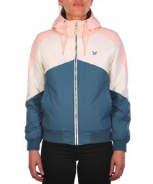 Iriedaily Frauen Jacke Tri Colore Jacket steelblue