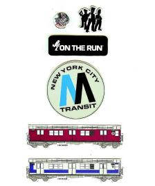 Klamottenstore Magnet Set OTR On The Run New York 5 Magnete