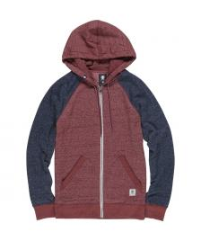 Element Herren Jacke Element Meridian Block Zip Hoodie napa red