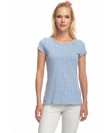 Ragwear Frauen T-Shirt Ragwear Mint Dots light blue melange
