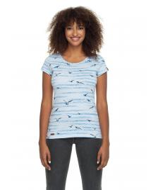 Ragwear Frauen T-Shirt Ragwear Mint Birds light blue