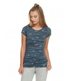 Ragwear Frauen T-Shirt Ragwear Mint Birds navy