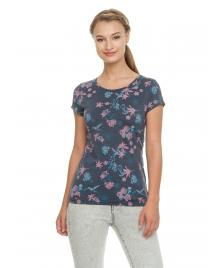 Ragwear Frauen T-Shirt Ragwear Mint Flowers navy