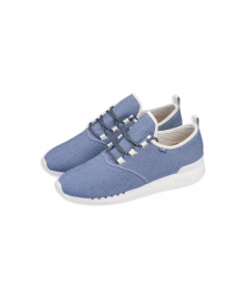 Djinns Djinns Schuhe MocLau Sucker Piquee Unisex Shoes blue white