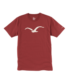 Cleptomanicx Männer T-Shirt Cleptomanicx Basic Tee Möwe merlot red