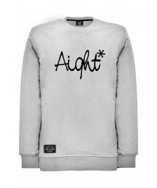 Aight Männer Pullover Aight Sweatshirt Original Logo heather grey