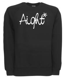 Aight Aight Pullover Original Logo Sweatshirt black