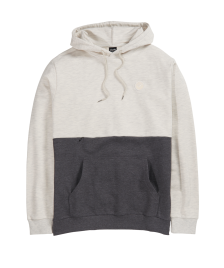 Cleptomanicx Männer Pullover Cleptomanicx Hooded Fifty-Fifty Patch heather creme