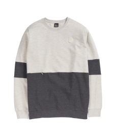 Cleptomanicx Männer Pullover Cleptomanicx Crewneck Fifty-Fifty Patch heather creme