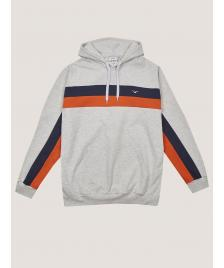 Cleptomanicx Männer Kapuzenpullover Cleptomanicx Hooded Faster light heather gray / dark navy