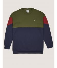 Cleptomanicx Männer Pullover Cleptomanicx Crewneck Drop 91 rifle green