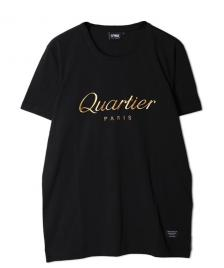 Space Monkeys Space Monkeys T-Shirt Quartier Paris Crew Neck Tee black gold