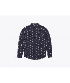 Wemoto Frauen Bluse Wemoto James Printed dark navy