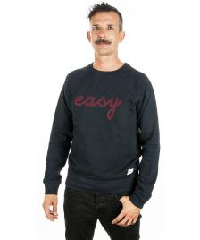 Wemoto Wemoto Pullover Easy Crewneck Sweater navy blue