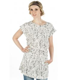 Wemoto Wemoto Kleid Morris Dress white black
