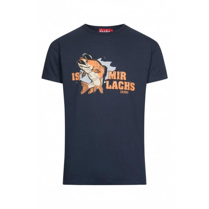Männer T-Shirt Derbe Is mir Lachs navy M