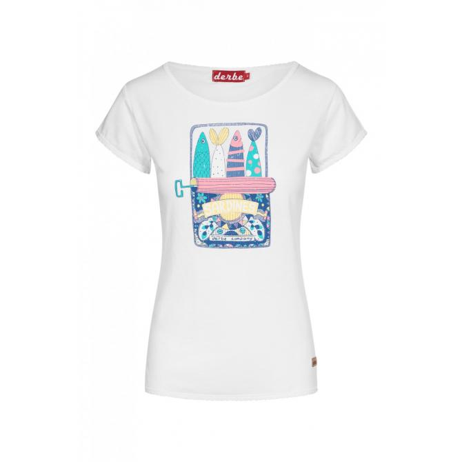Frauen T-Shirt Derbe Sardines white S